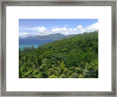 Tropical Seychelles Framed Print