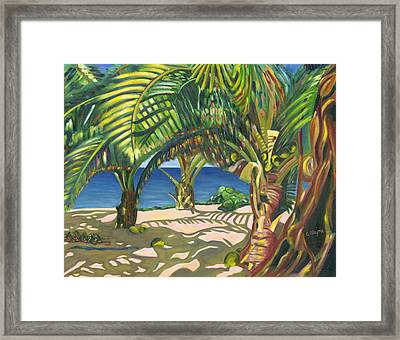 Tropical Shadows Framed Print