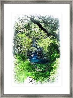 Tropical Shangri-la Framed Print by Ellen Cotton