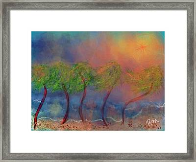 Tropical Sorm On The Way Out Framed Print by Renee Michelle Wenker