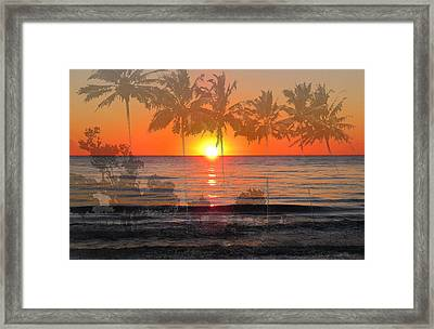 Tropical Spirits - Palm Tree Art By Sharon Cummings Framed Print by Sharon Cummings