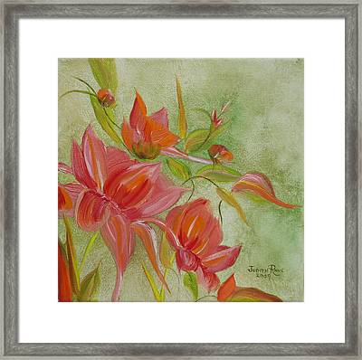 Tropical Splash Framed Print