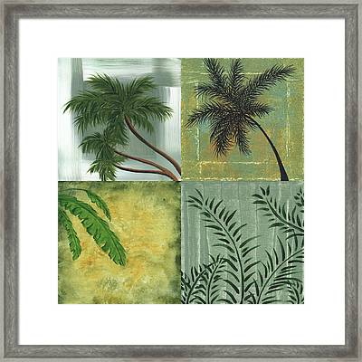 Tropical Splash Square By Madart Framed Print by Megan Duncanson