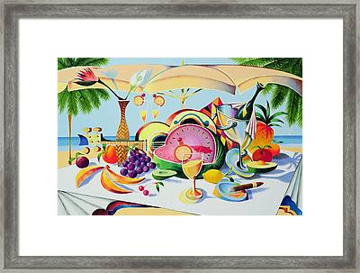 Tropical Still Life For A Cuban Cubist Framed Print