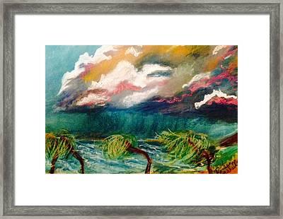 Tropical Storm Framed Print by Renee Michelle Wenker