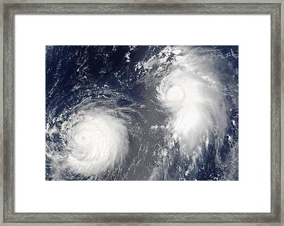 Tropical Storms, 2005 Framed Print by Science Photo Library