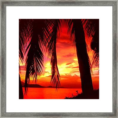 Tropical Sunset - Thailand Framed Print