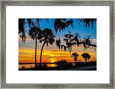 Tropical Sunset Framed Print by Bob Mulligan