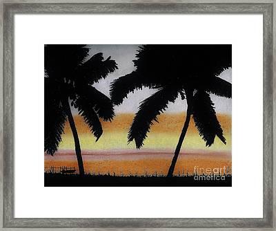 Tropical - Sunset Framed Print