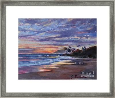 Tropical Sunset Framed Print by Jennifer Beaudet