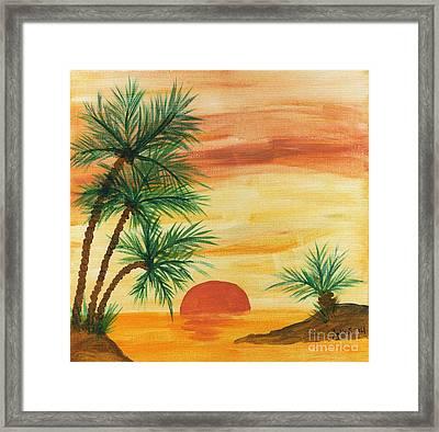Tropical Sunset Framed Print