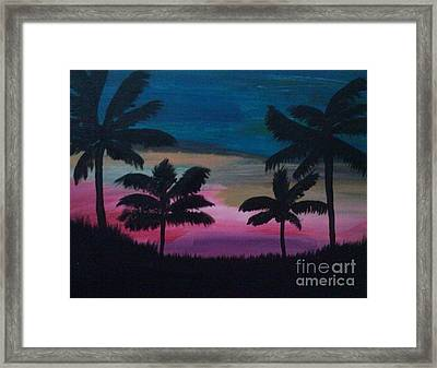 Tropical Sunset Framed Print by Krystal Jost