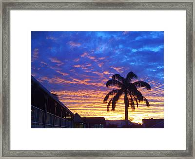 Tropical Sunset View Framed Print