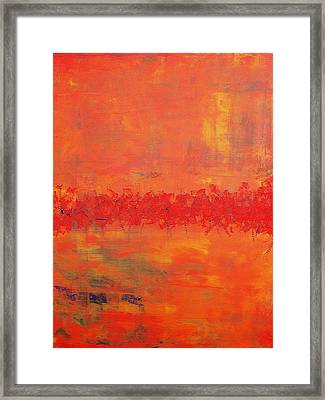 Tropical Framed Print by Tanya Lozano Abstract Expressionism