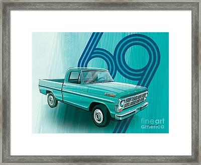 Tropical Turquoise 69 Framed Print by Sean  Svendsen