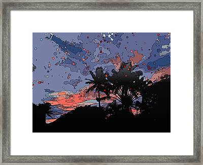 Tropical Twilight Framed Print by Stacy Vosberg
