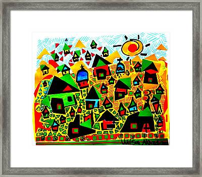 Tropical Village Framed Print