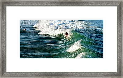 Tropical Wave Framed Print by Laura Fasulo