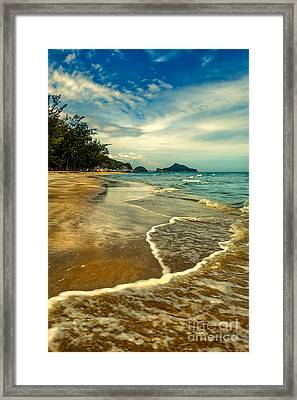 Tropical Waves Framed Print by Adrian Evans