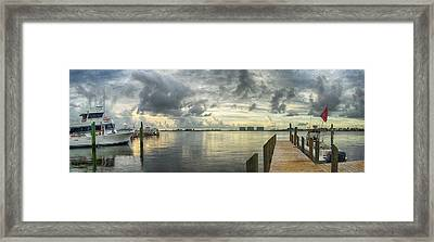 Framed Print featuring the digital art Tropical Winds In Orange Beach by Michael Thomas