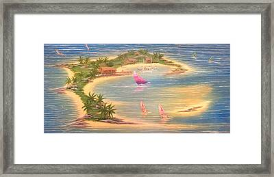 Tropical Windy Island Paradise Framed Print