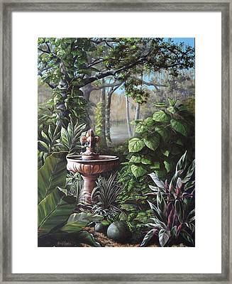Florida Tropical Garden Framed Print