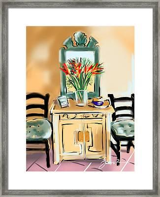 Tropicana Motif Framed Print