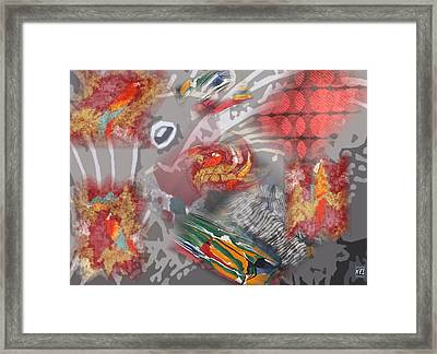 Framed Print featuring the digital art Tropics by Kelly McManus