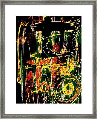 Framed Print featuring the painting Tropix by Cleaster Cotton