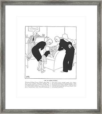 Trotter, William Trevor Red. Born January 23 Framed Print