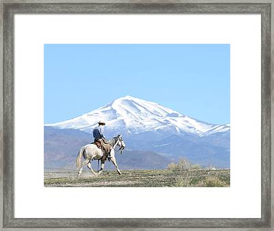 Trotting Out Framed Print by Lee Raine