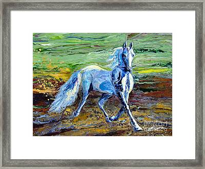 Trotting With Style Framed Print by En-Chuen Soo