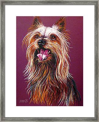 Trouble Framed Print by Susan Bergstrom