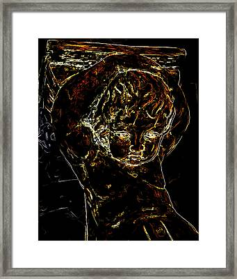 Troubled Child Man Ray Homage Framed Print by Brian King