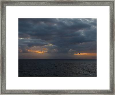 Framed Print featuring the photograph Troubled Skies by Jennifer Wheatley Wolf