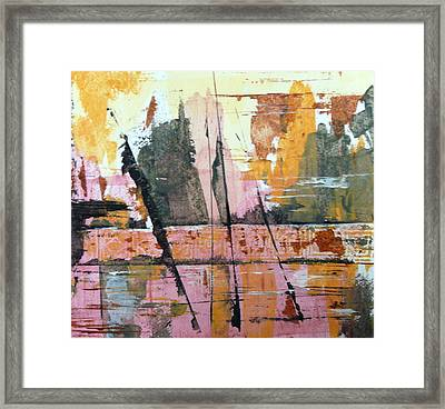 Framed Print featuring the painting Troubled Water by Buck Buchheister