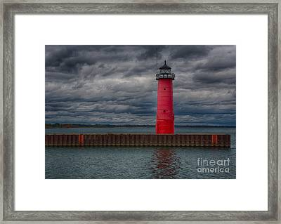 Troubled Skies Framed Print by Ricky L Jones