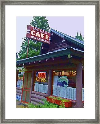 Trout Dinners - Watercolor Framed Print