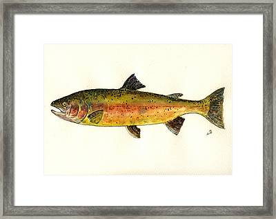 Trout Fish Framed Print by Juan  Bosco