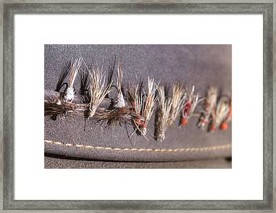 Trout Flies - My Father's Hat Framed Print by Rob Greebon