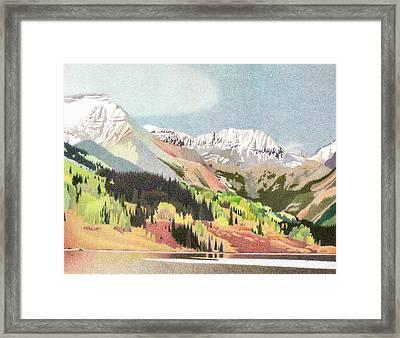 Trout Lake Colorado Framed Print by Dan Miller