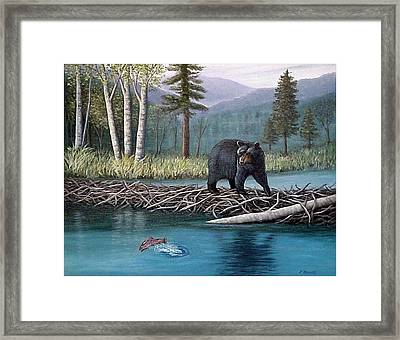Trout Temptation Framed Print