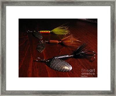 Trout Temptation Framed Print by Greg Patzer
