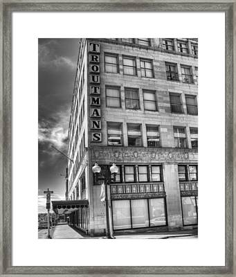Troutmann's Framed Print by Coby Cooper