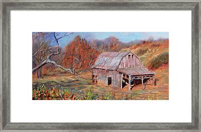 Troutville Barn Framed Print by Bonnie Mason