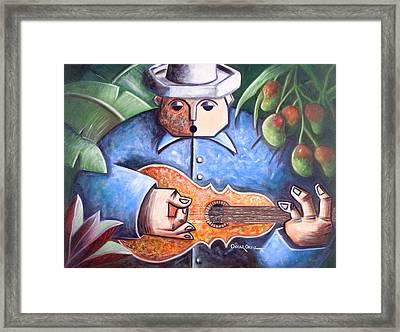 Trovador De Mango Bajito Framed Print