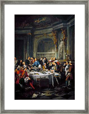 Troy: Oyster Lunch, 1734 Framed Print by Granger