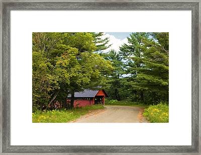 Troy Vermont Covered Bridge Framed Print by Stephanie McDowell