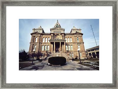 Troy's Courthouse  Framed Print by Rachel Barrett