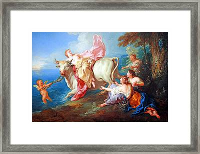 Framed Print featuring the photograph Troy's The Abduction Of Europa by Cora Wandel